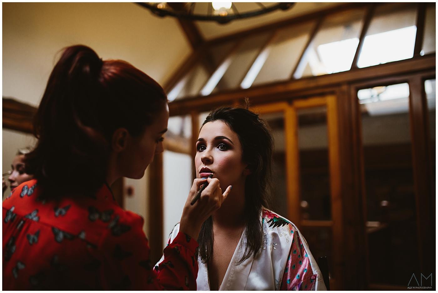 bride makeup at beeston manor