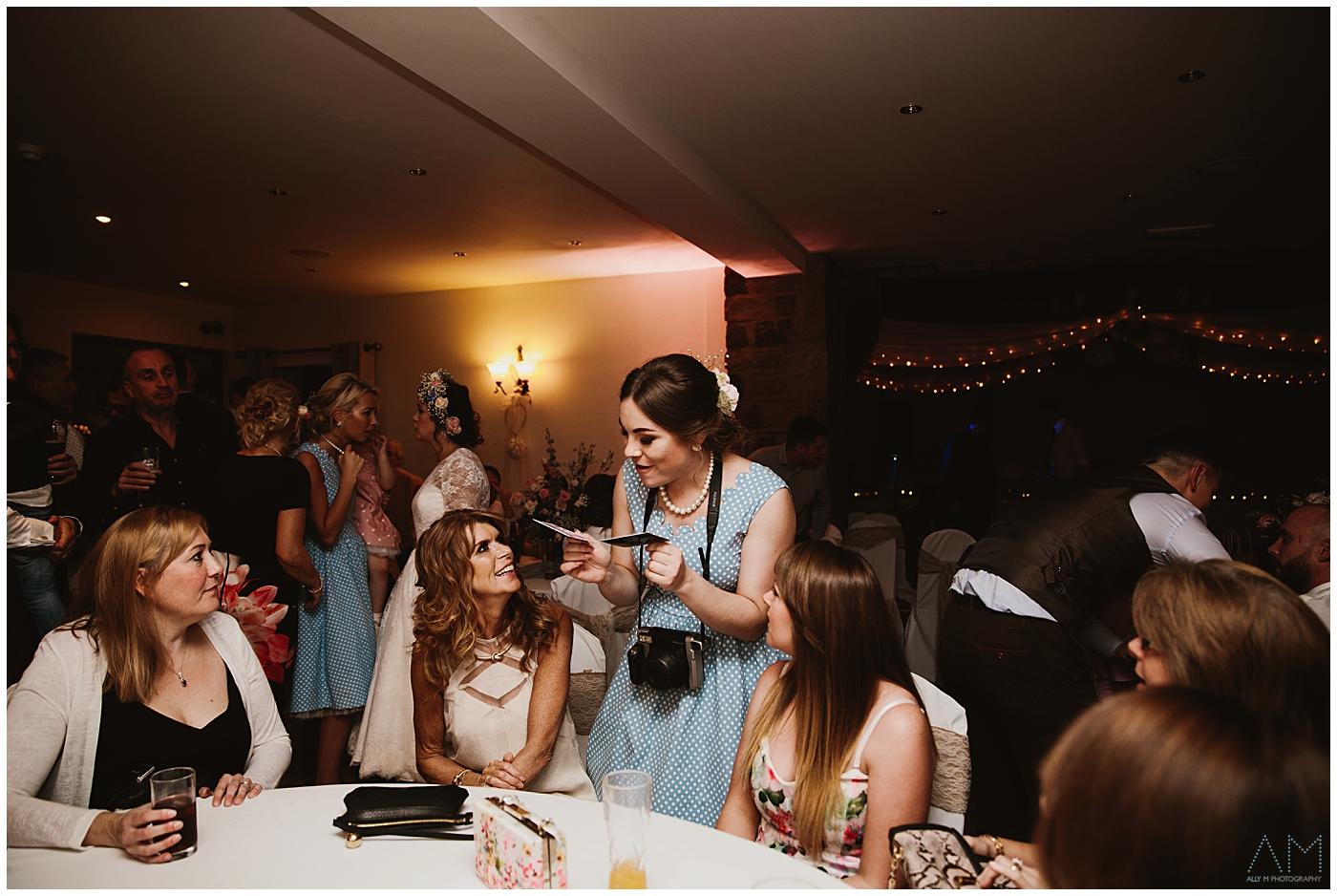 bridesmaid with camera