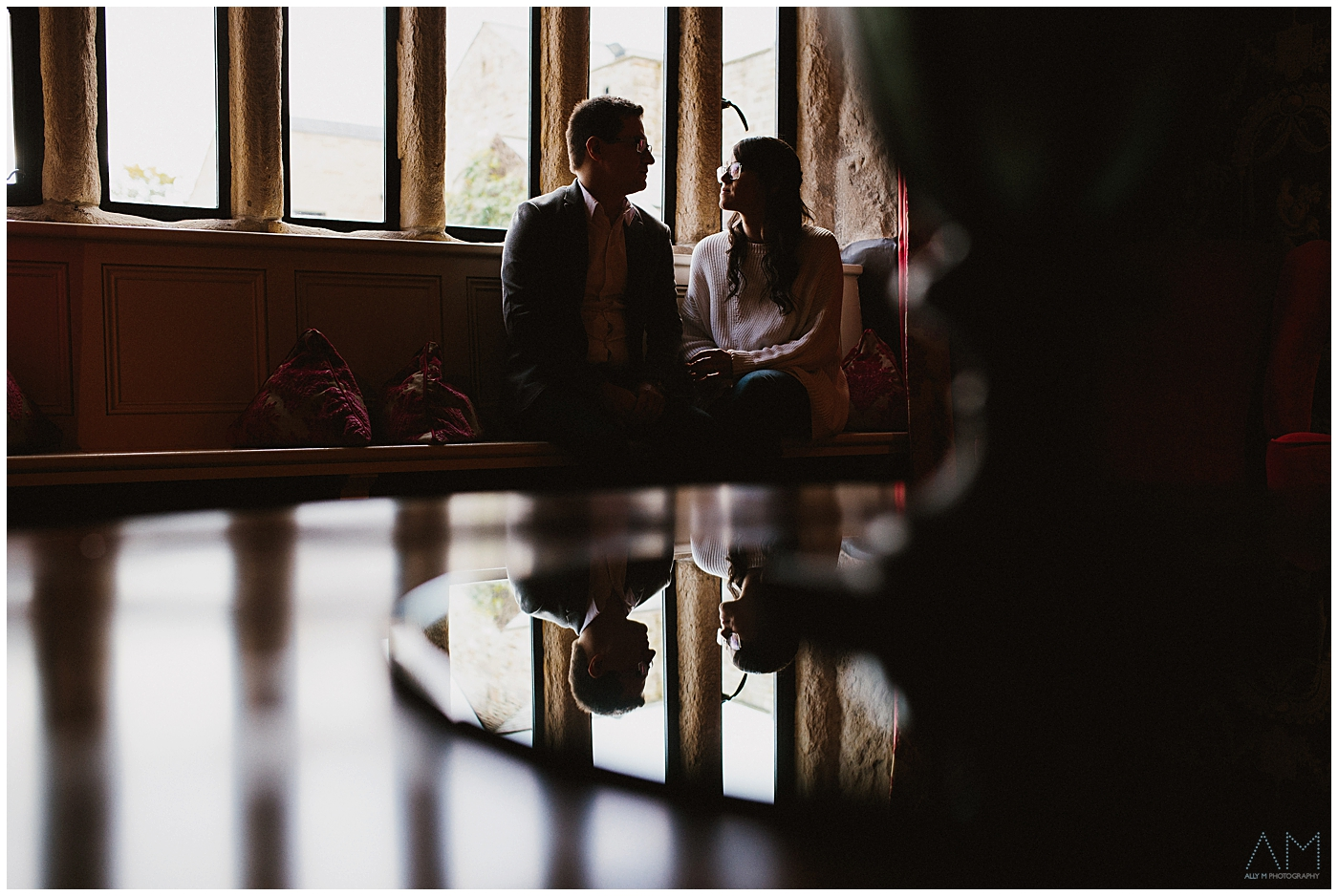 refection o bride and groom