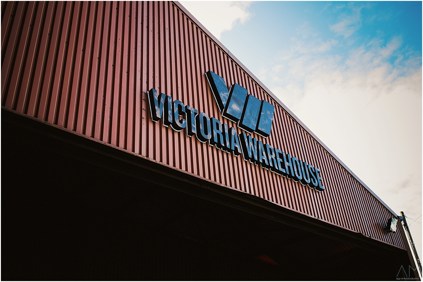 Outside Victoria Warehouse