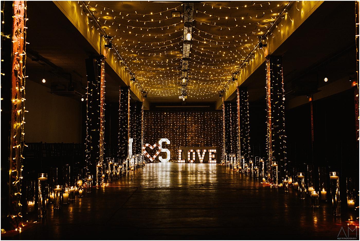 Victoria warehouse wedding room