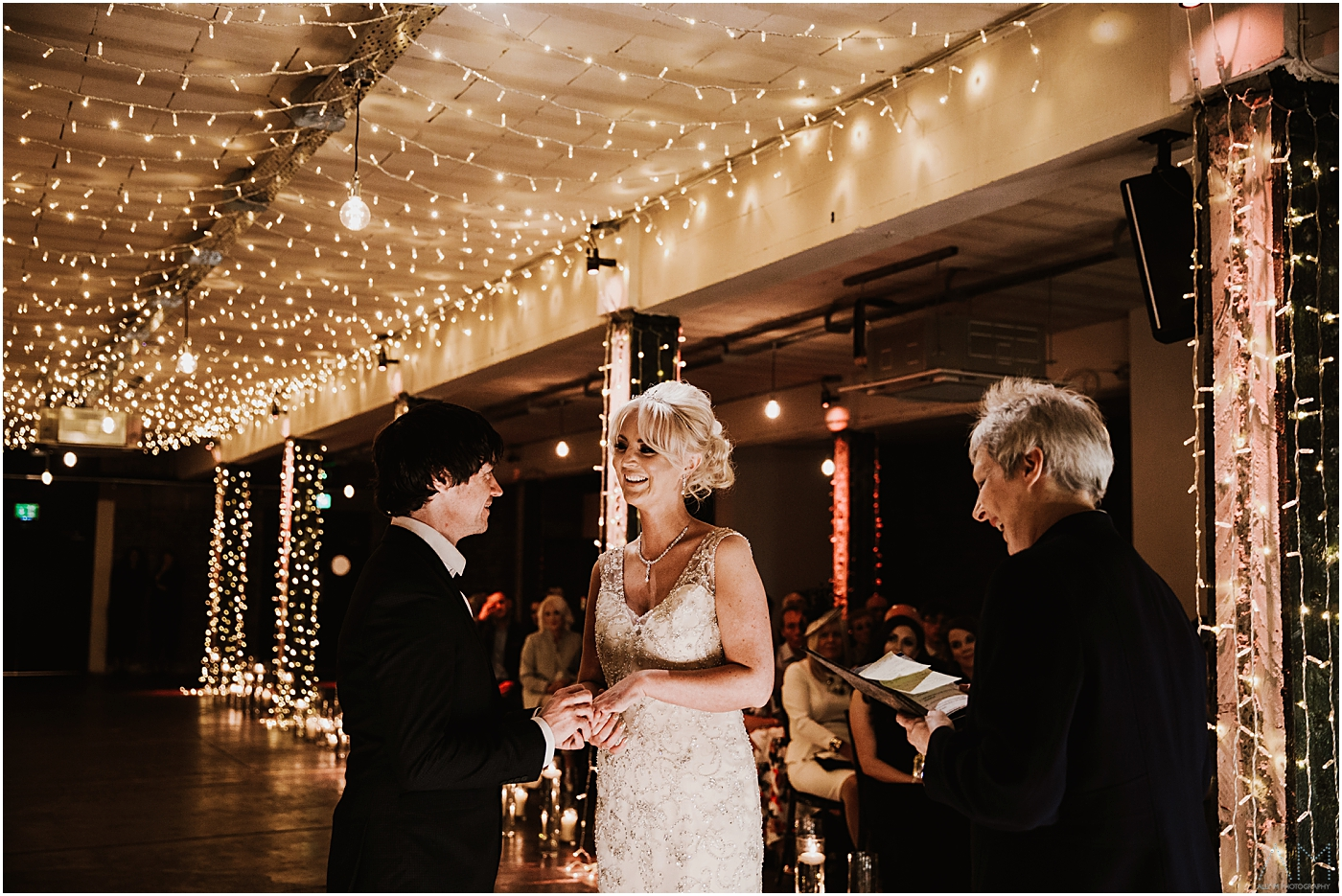 exchanging rings at victoria warehouse