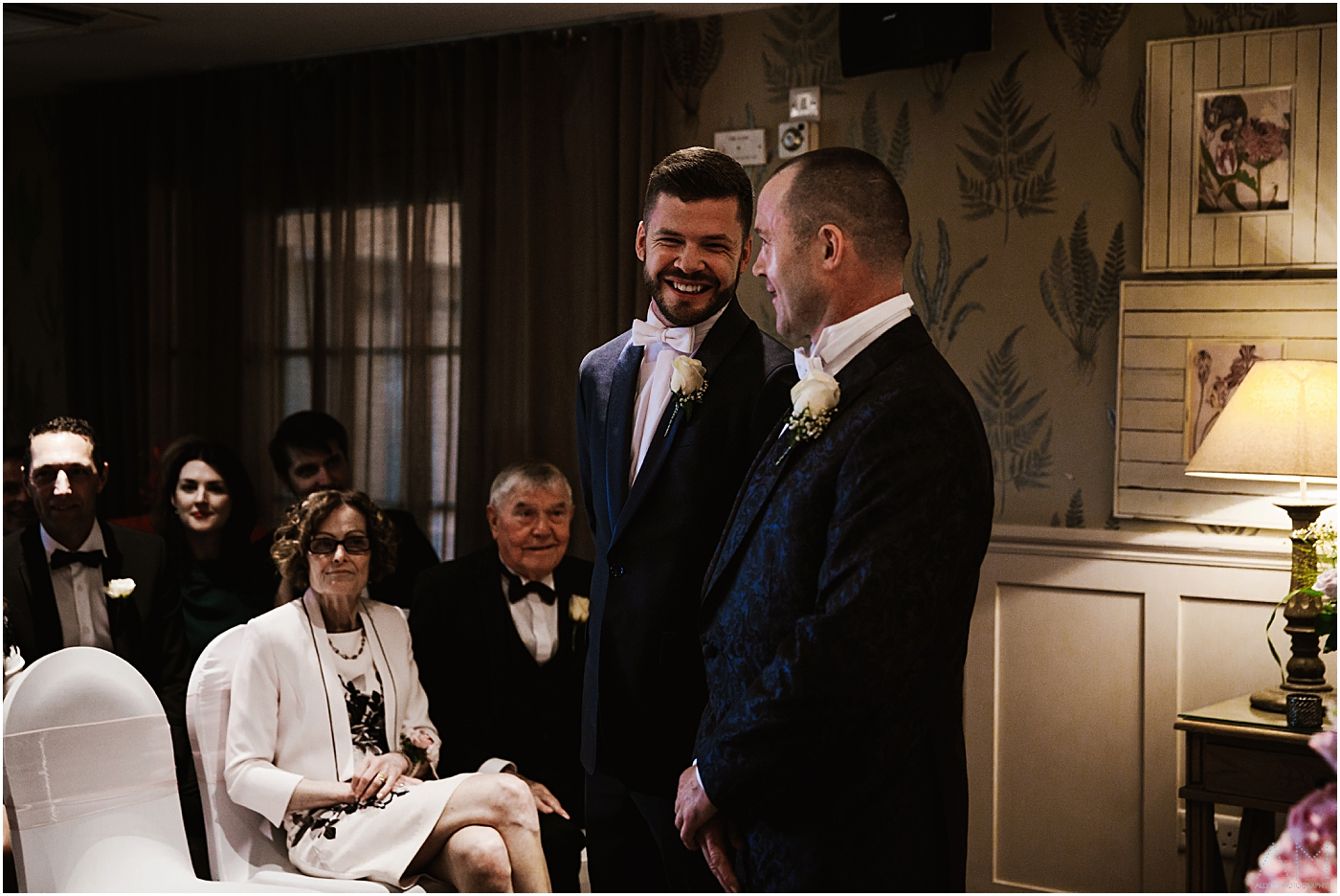 Best man and groom at Great John Street Hotel