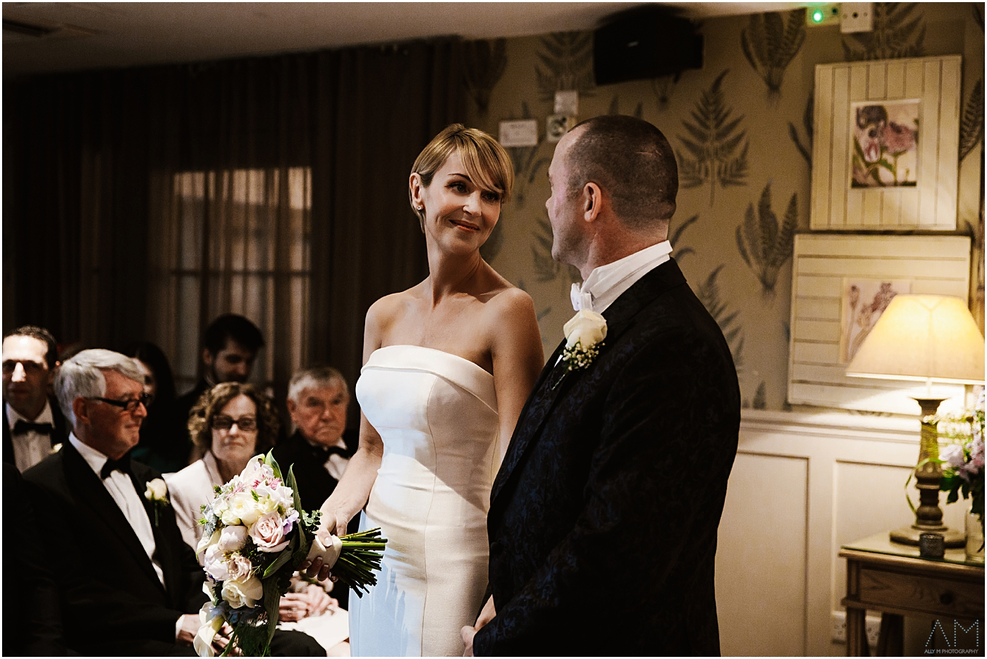 Bride and groom getting married at great John street Hotel