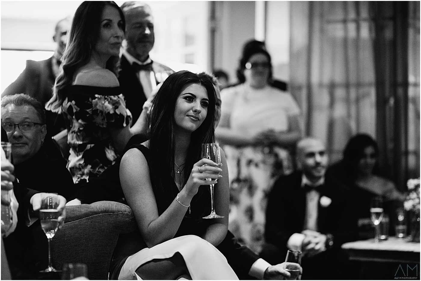 Wedding guest during the speeches
