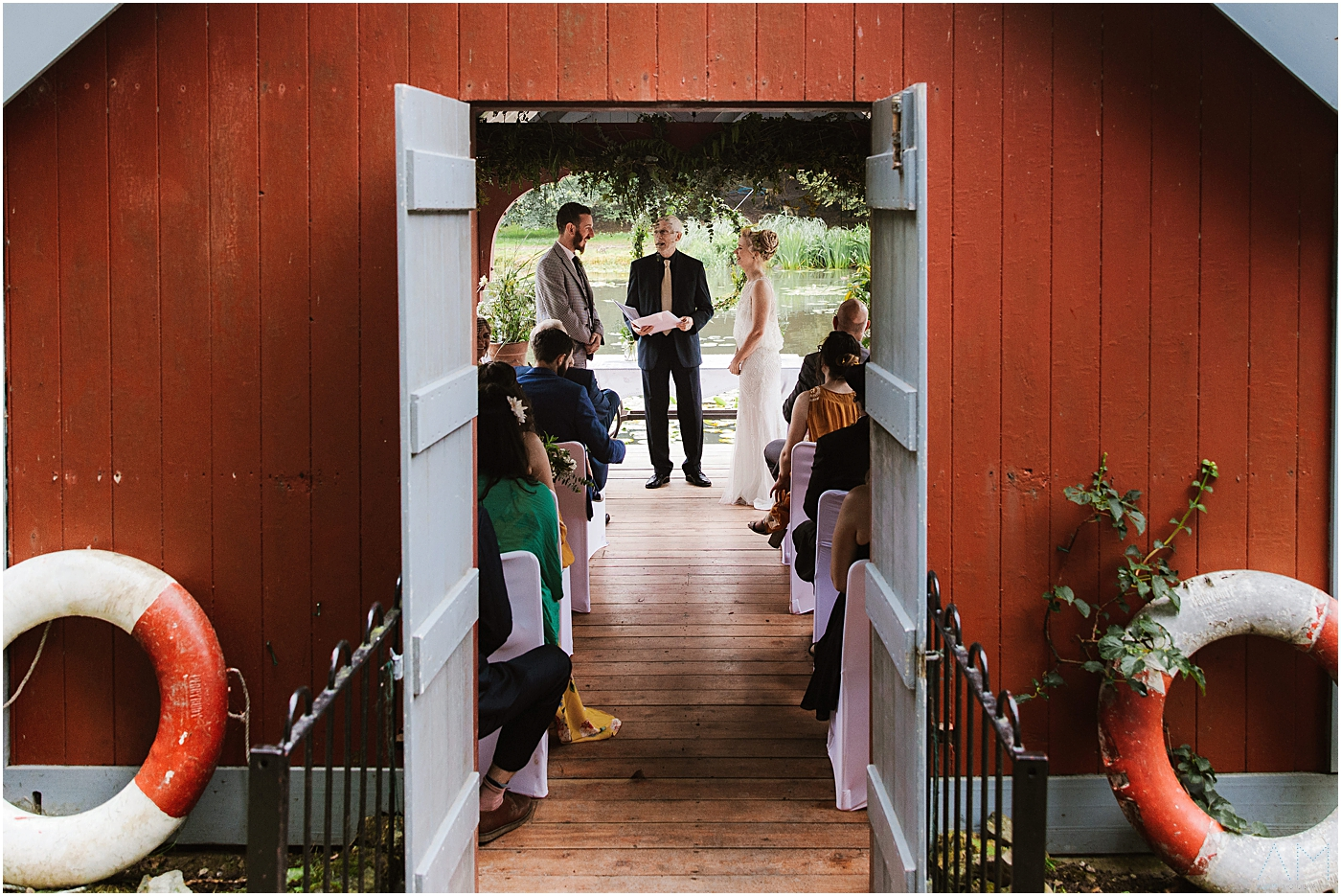 Married in the boat house at Carreglwyd