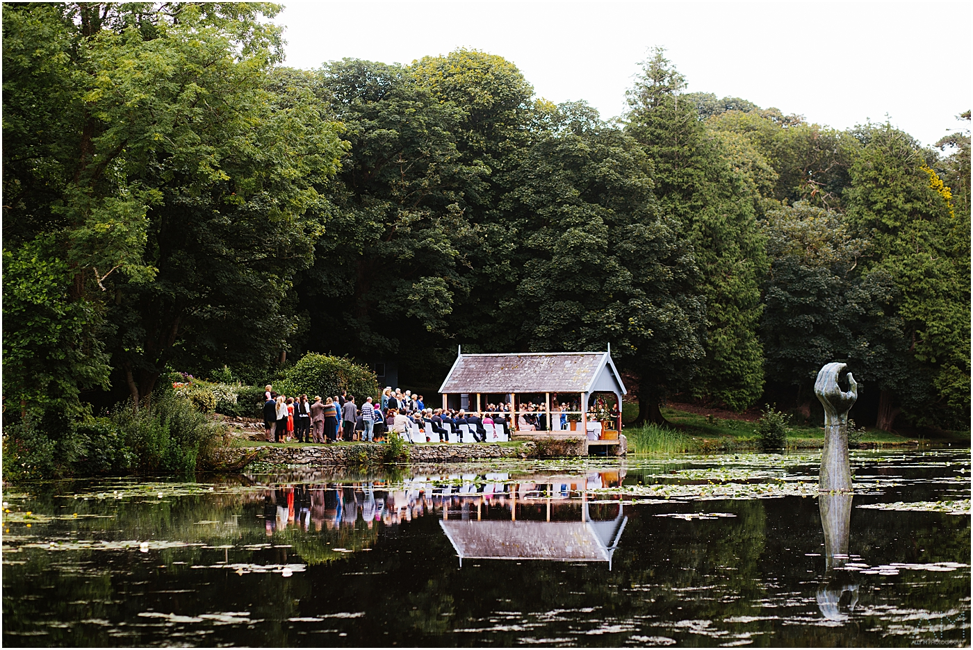 Wedding ceremony at Carreglwyd