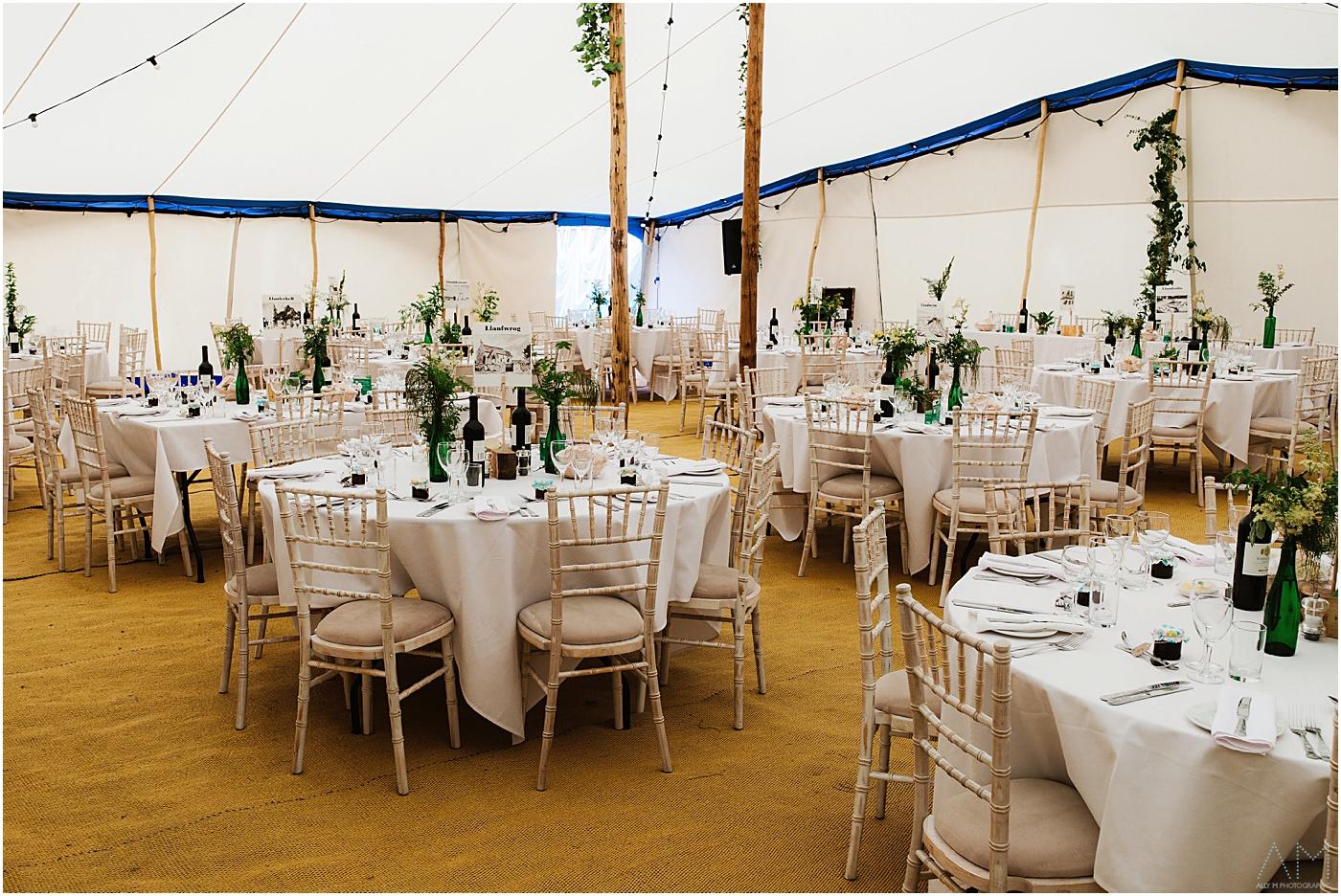 Wedding tent at Carreglwyd