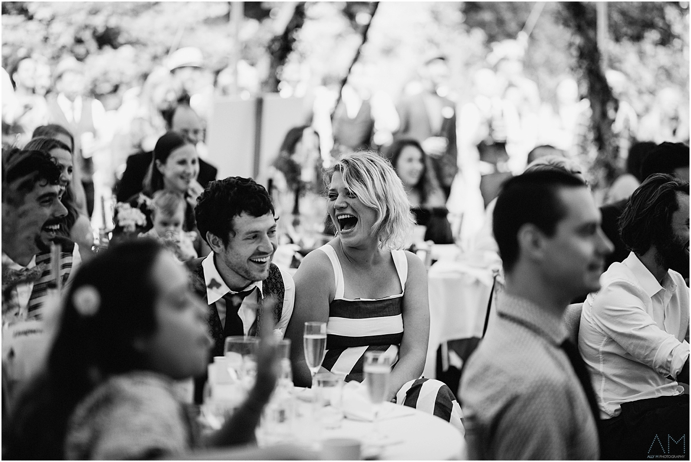 Guest laughing at speeches