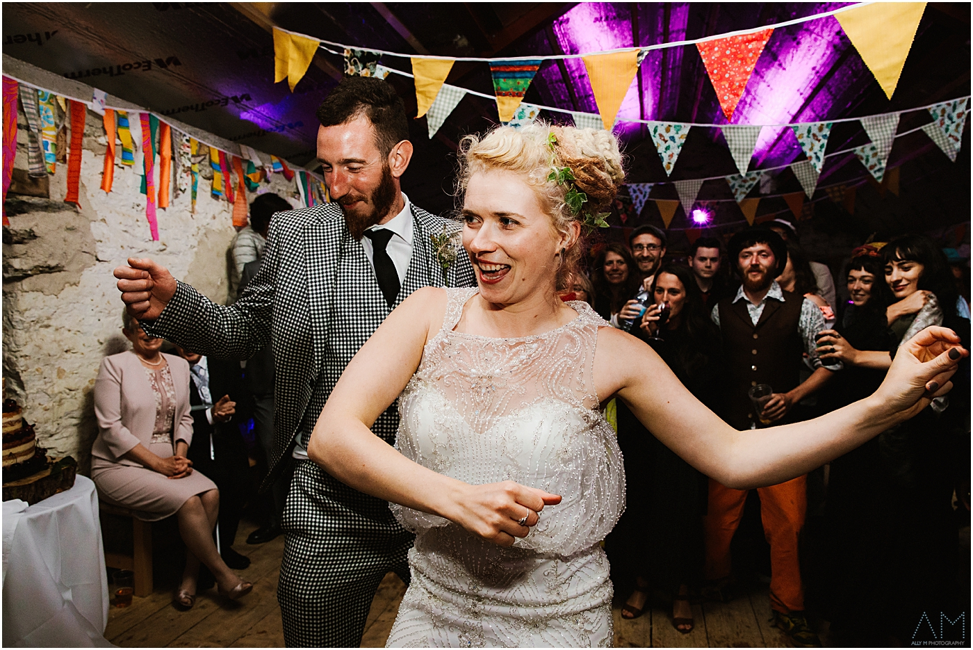 Bride and Groom first dance at Carreglwyd
