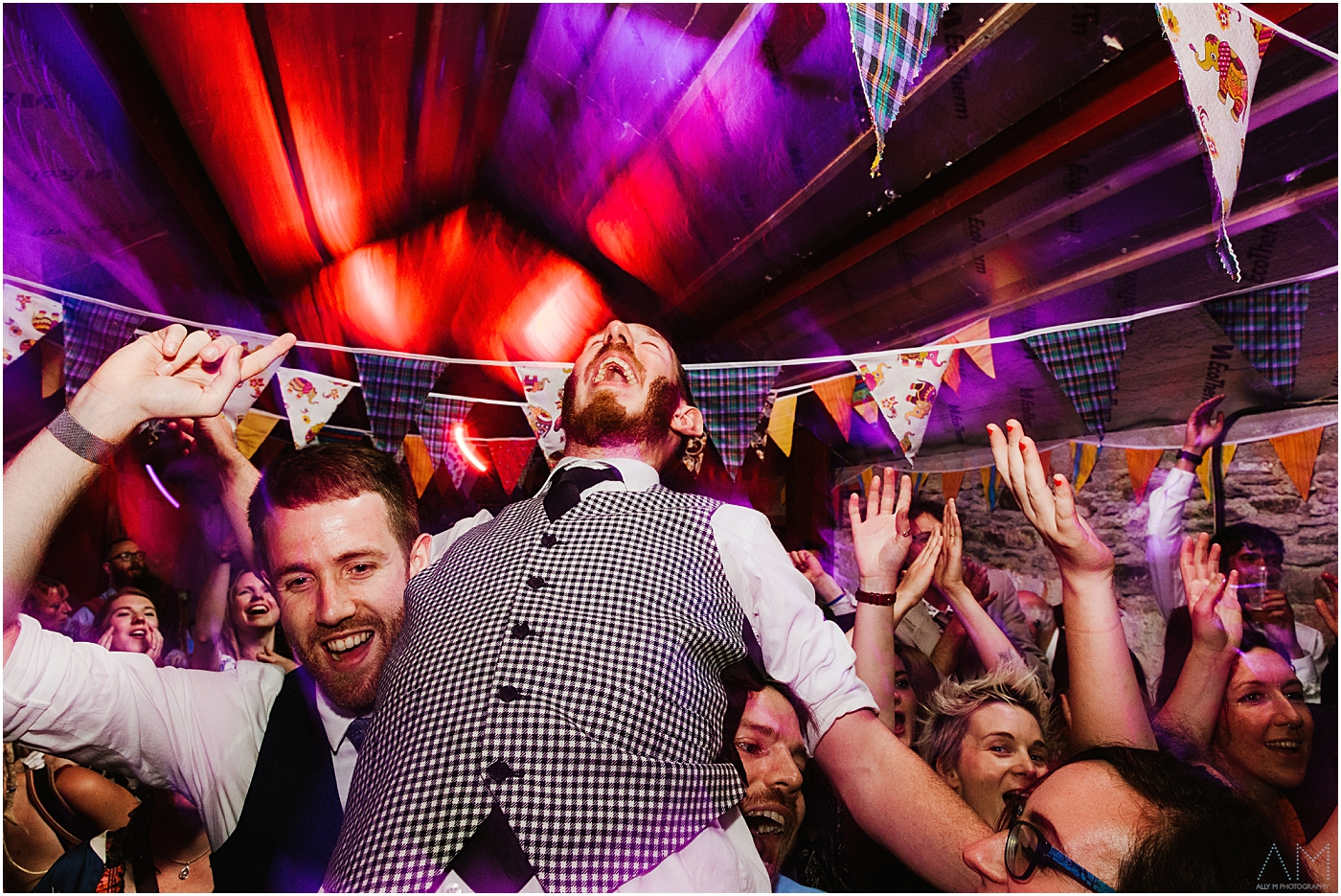 Groom having the time of his life