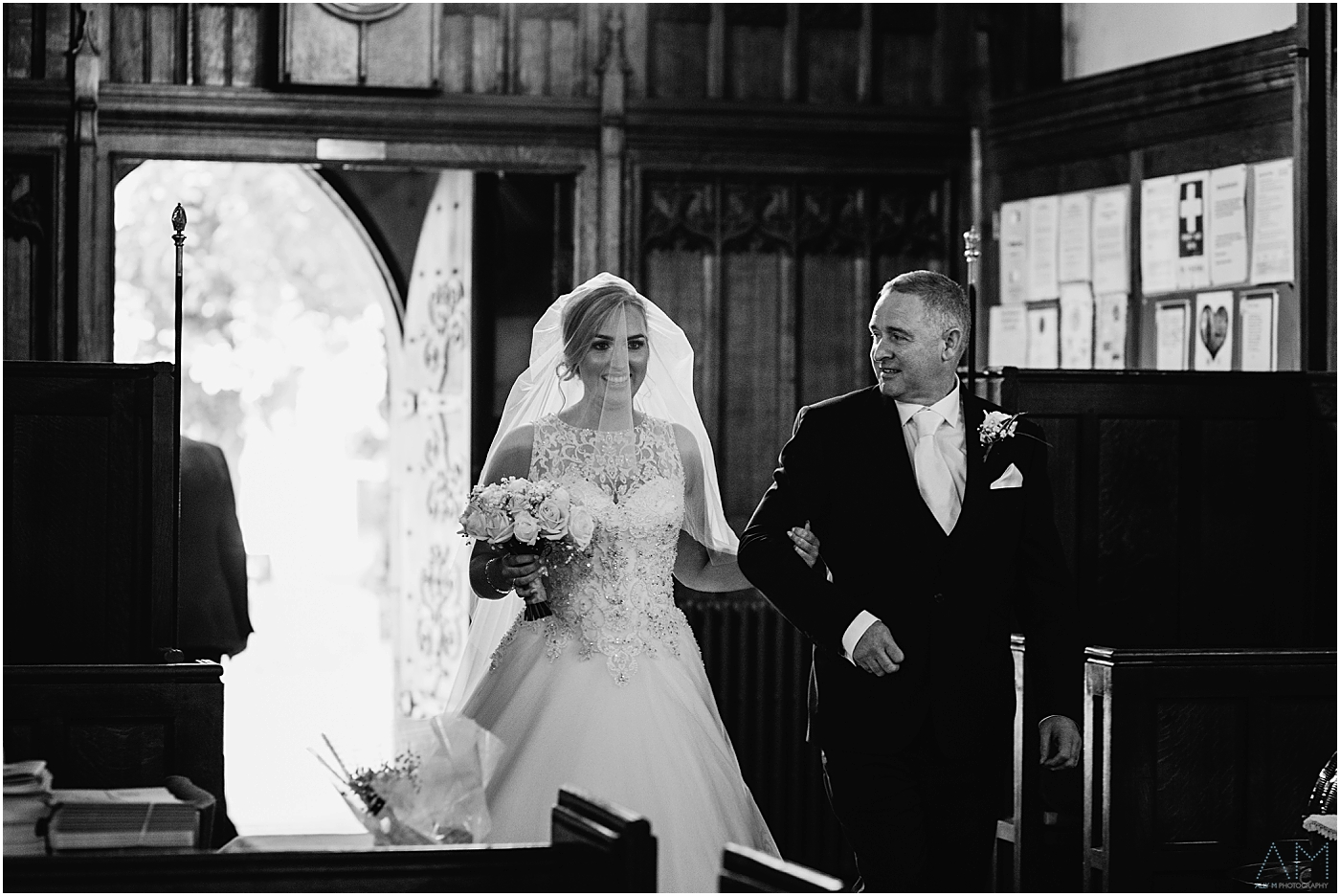 Proud Dad walking his girl down the aisle