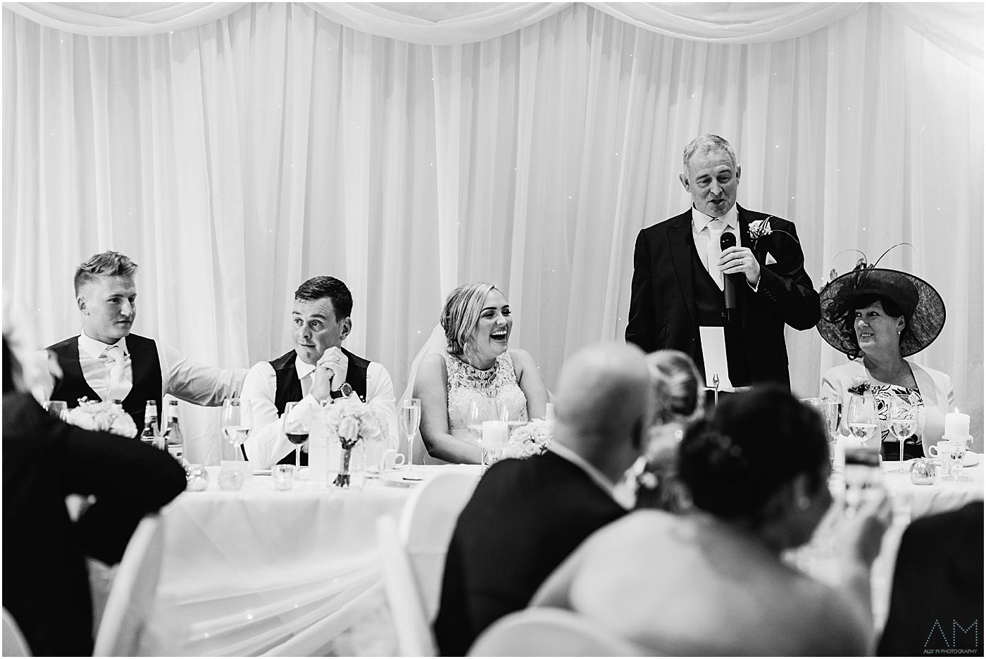 Wedding speeches at Alderley Edge Hotel