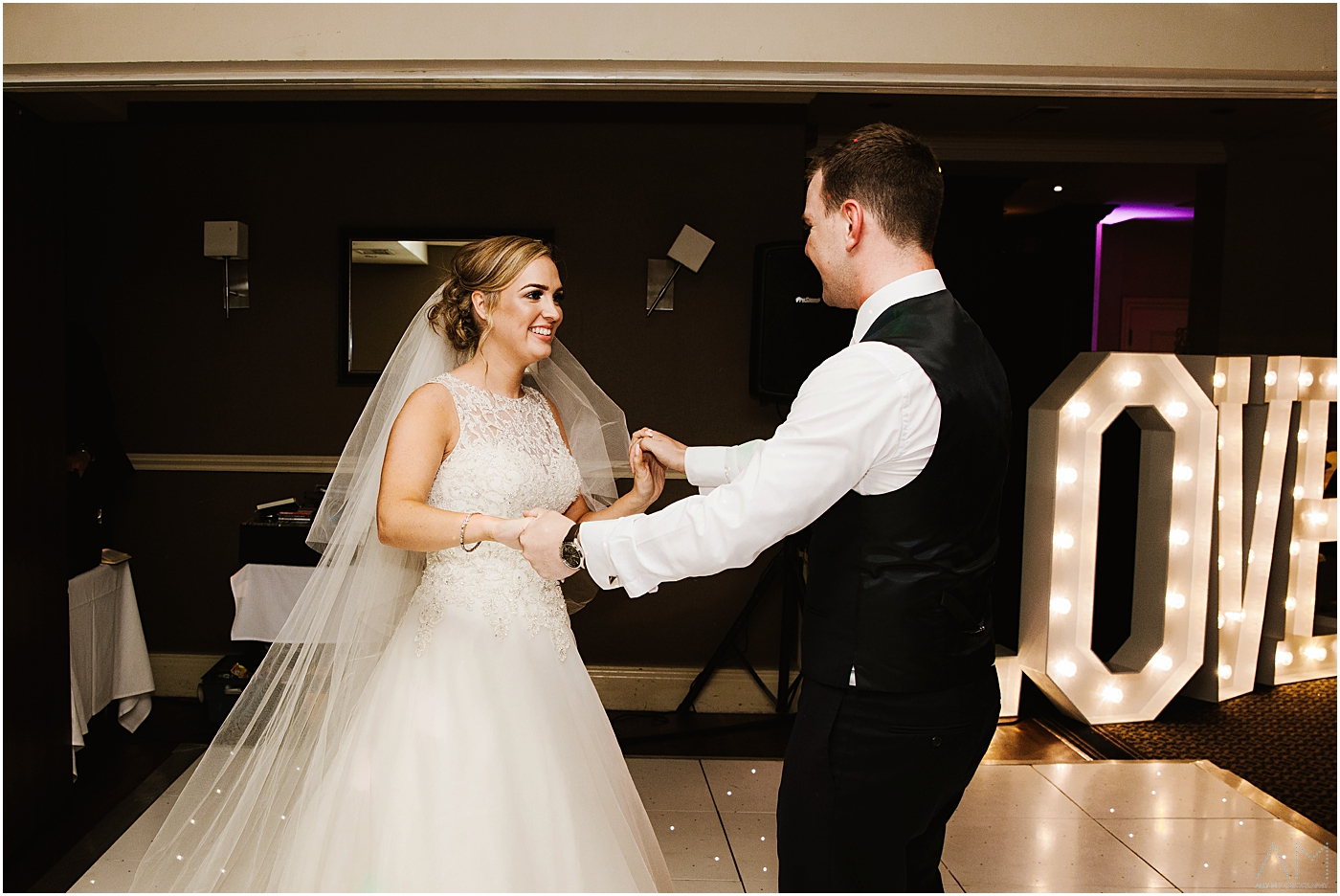 first dance at Alderley Edge Hotel