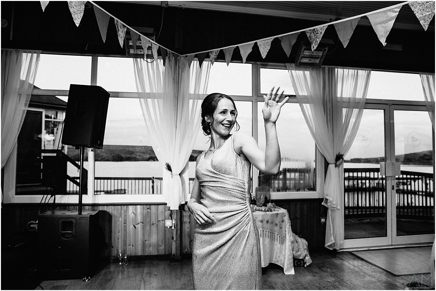 Bride dancing on her own