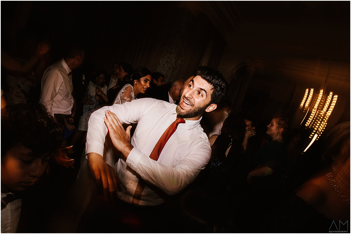 best man dancing at wedding