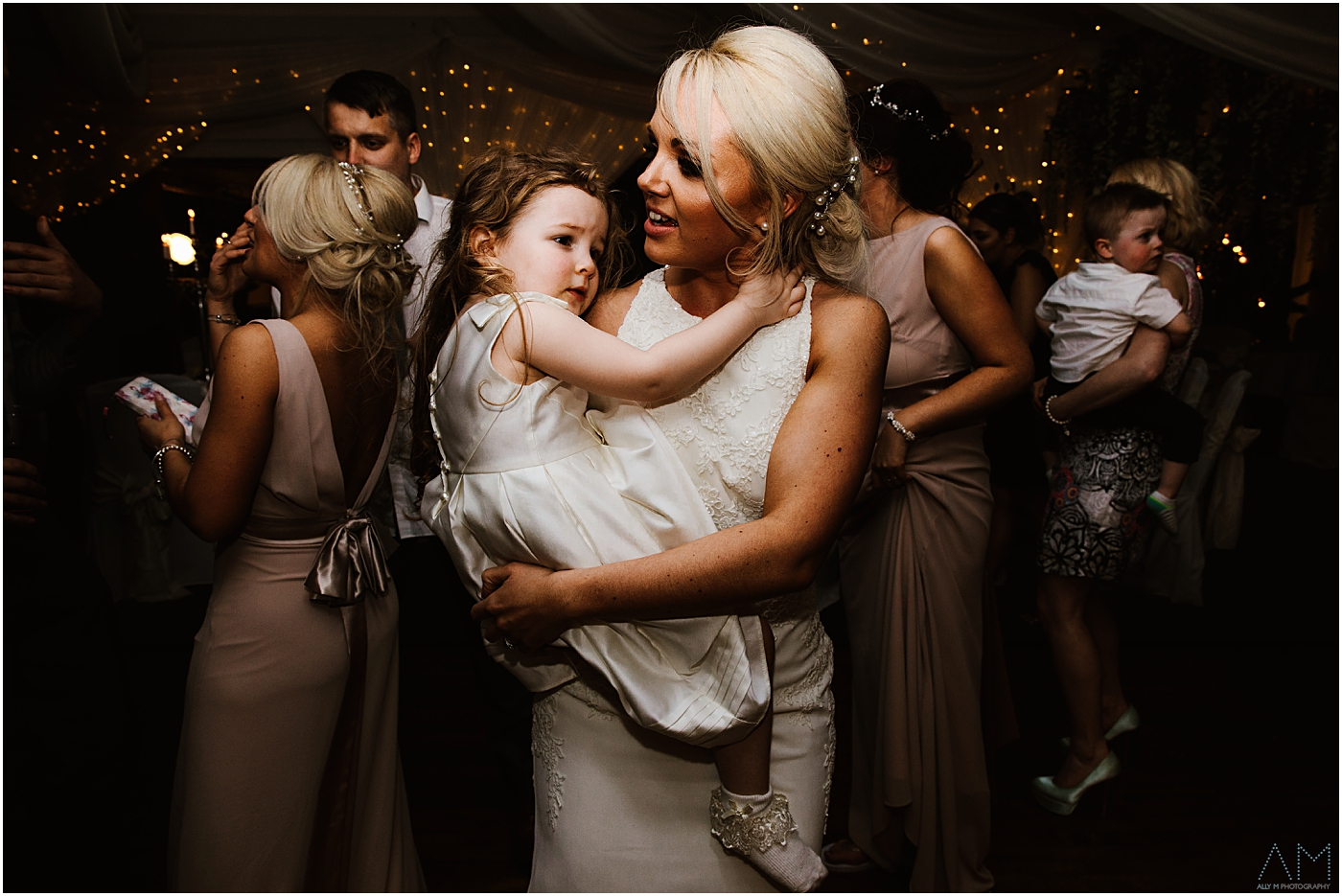 Bride with her girl