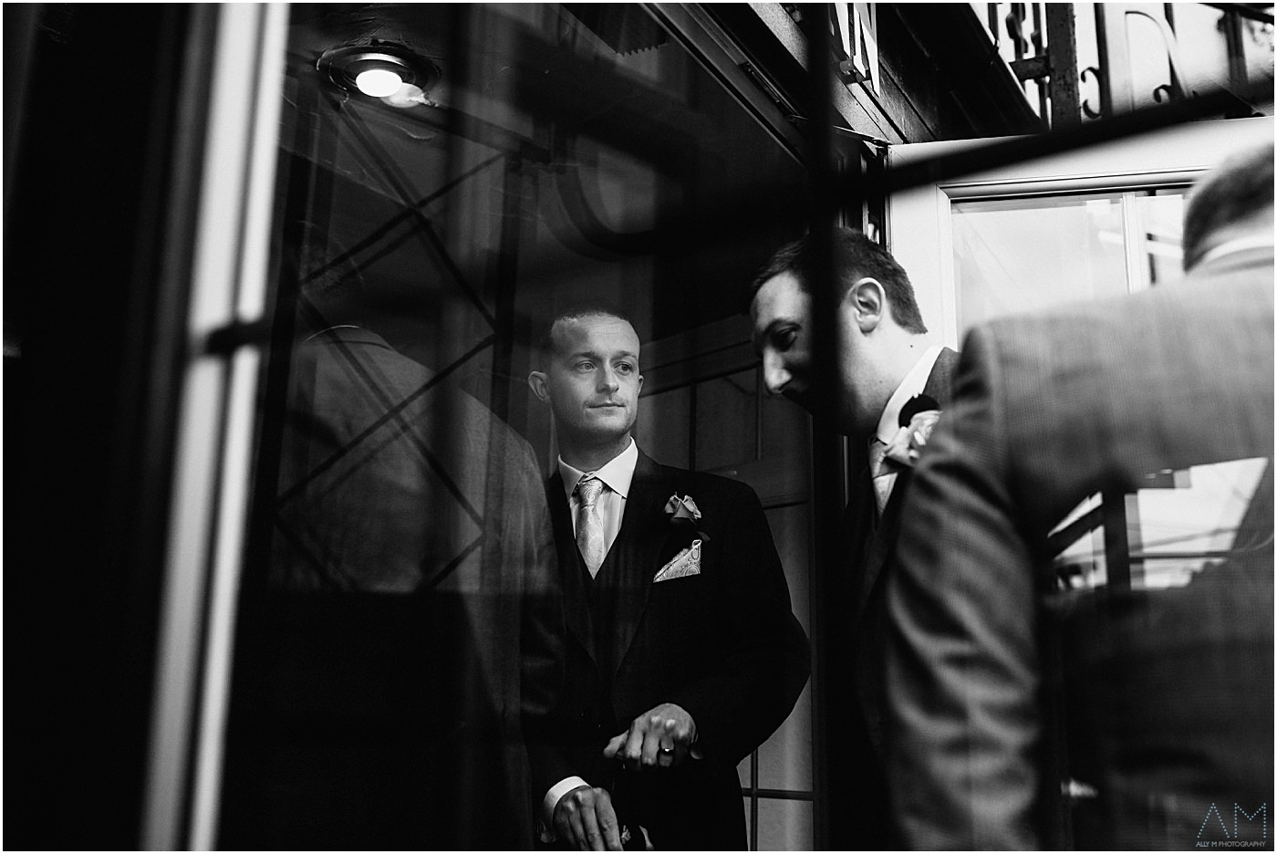 groom through a window
