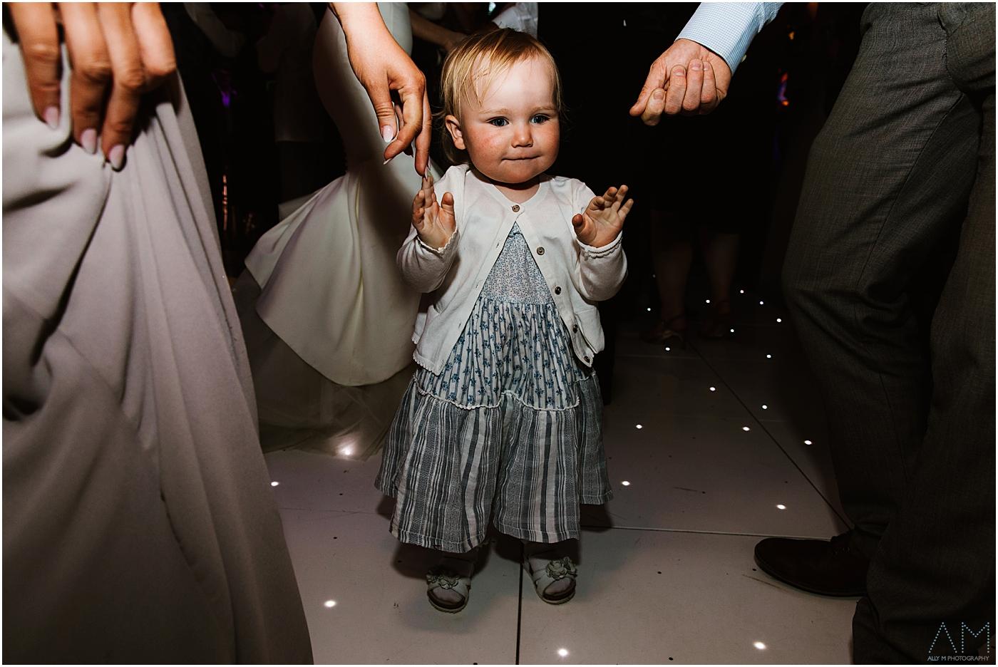 little girl on the dance floor