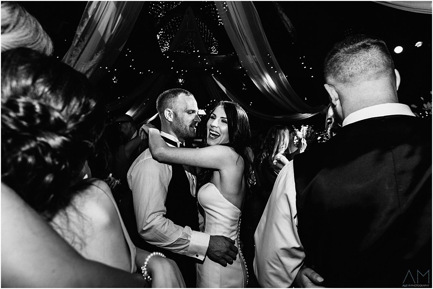 bride and groom on dancfloor