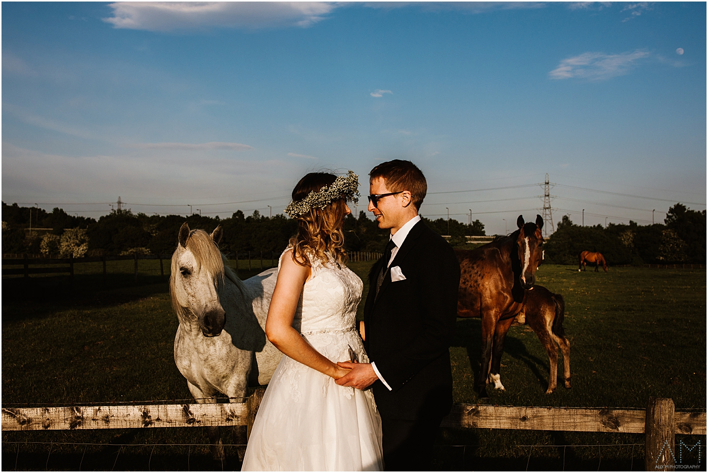 wedding photographer at New Hill Farm Stud Manchester
