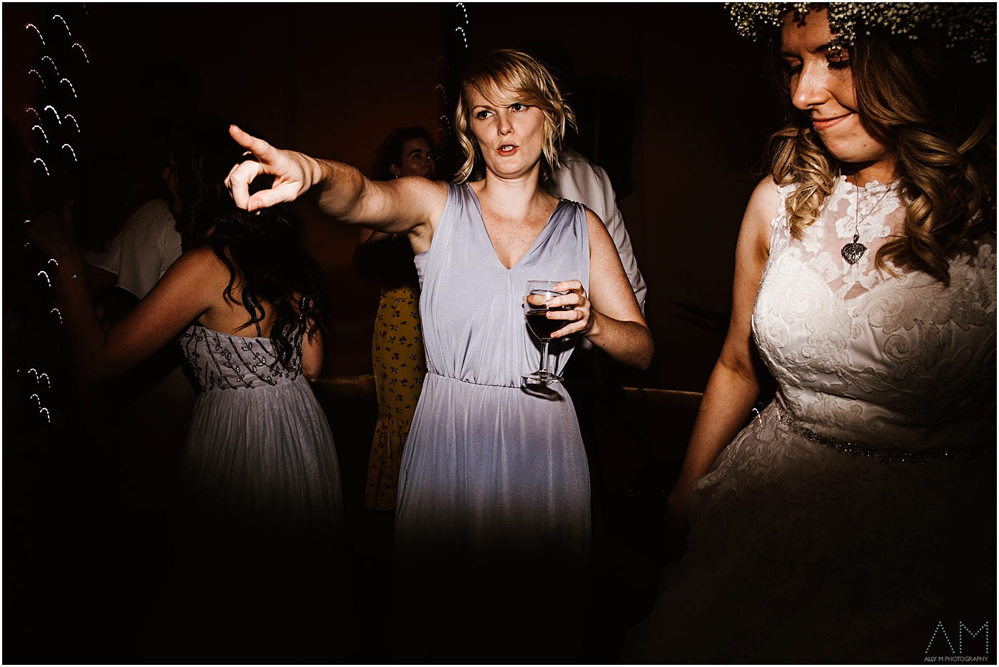 Bridesmaid on the dance floor