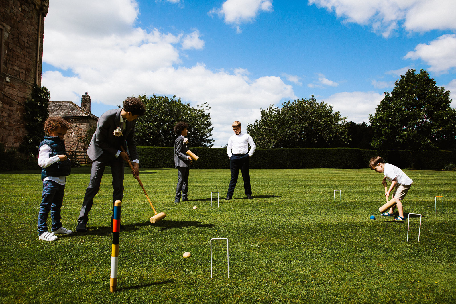 Lawn games at Askham Hall