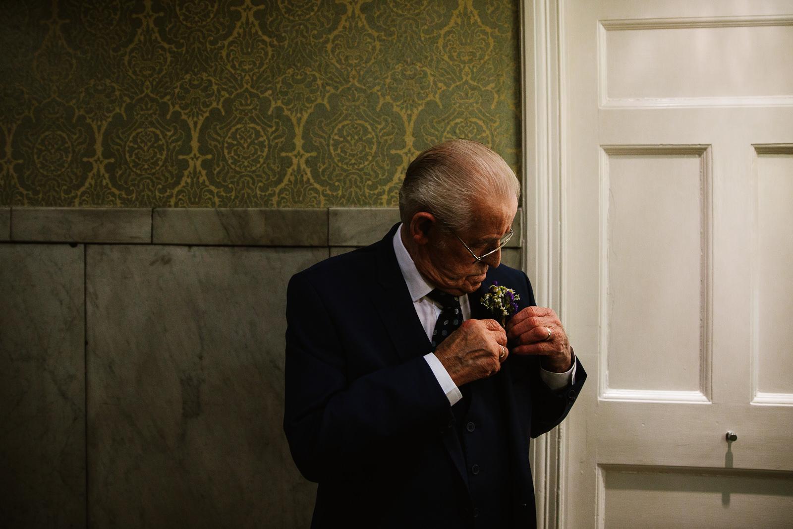 Grandad turns up at brides hotel room