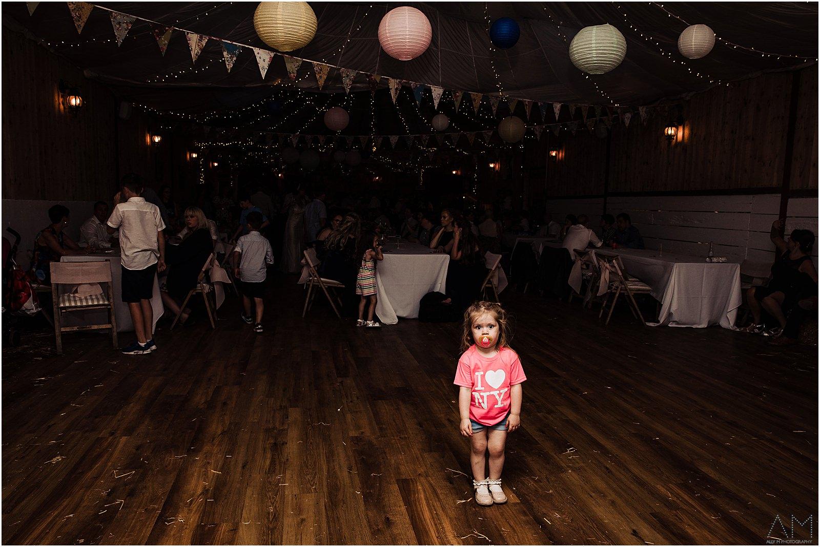 Little girl on teh dancefloor