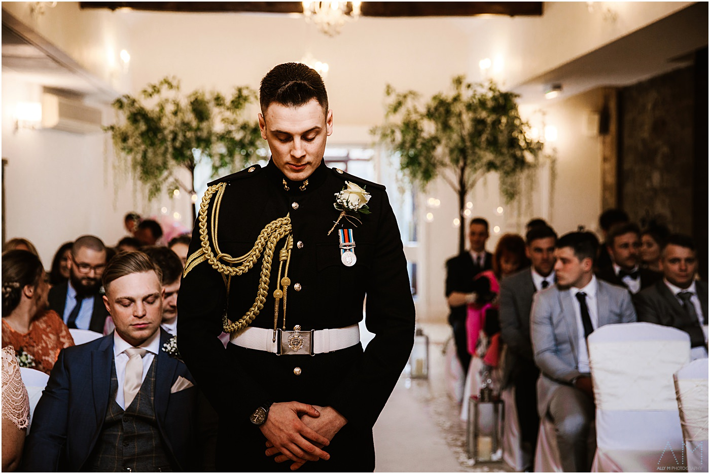 Groom waiting for his bride to be