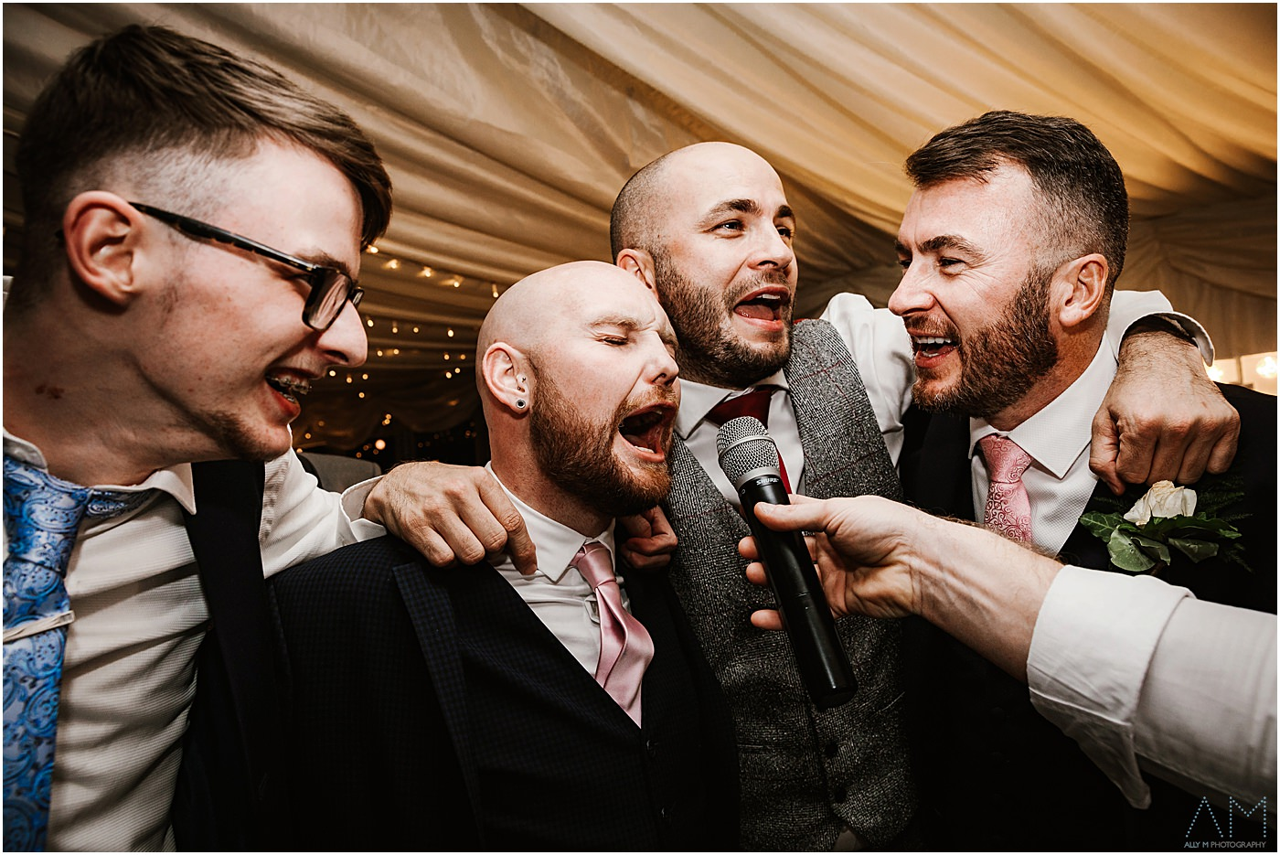 Wedding guys singing