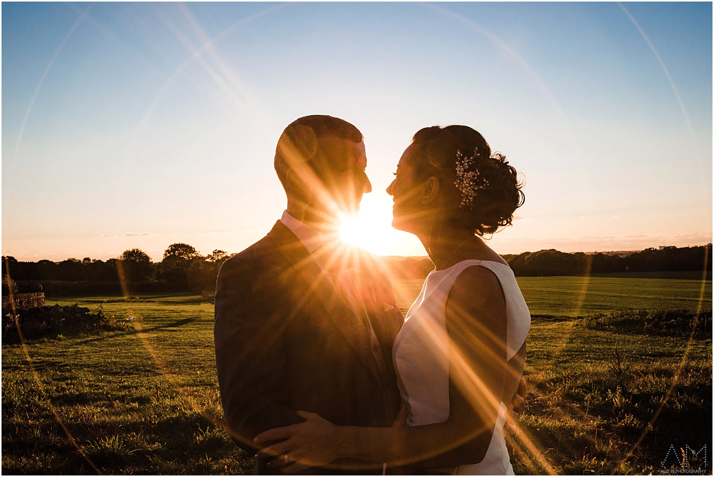 Wedding Photography at Beeston manor during the sunset