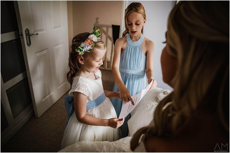Two girls practising their readings.