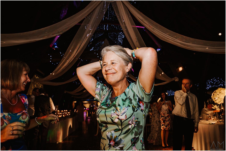 Lady smiling on dance floor