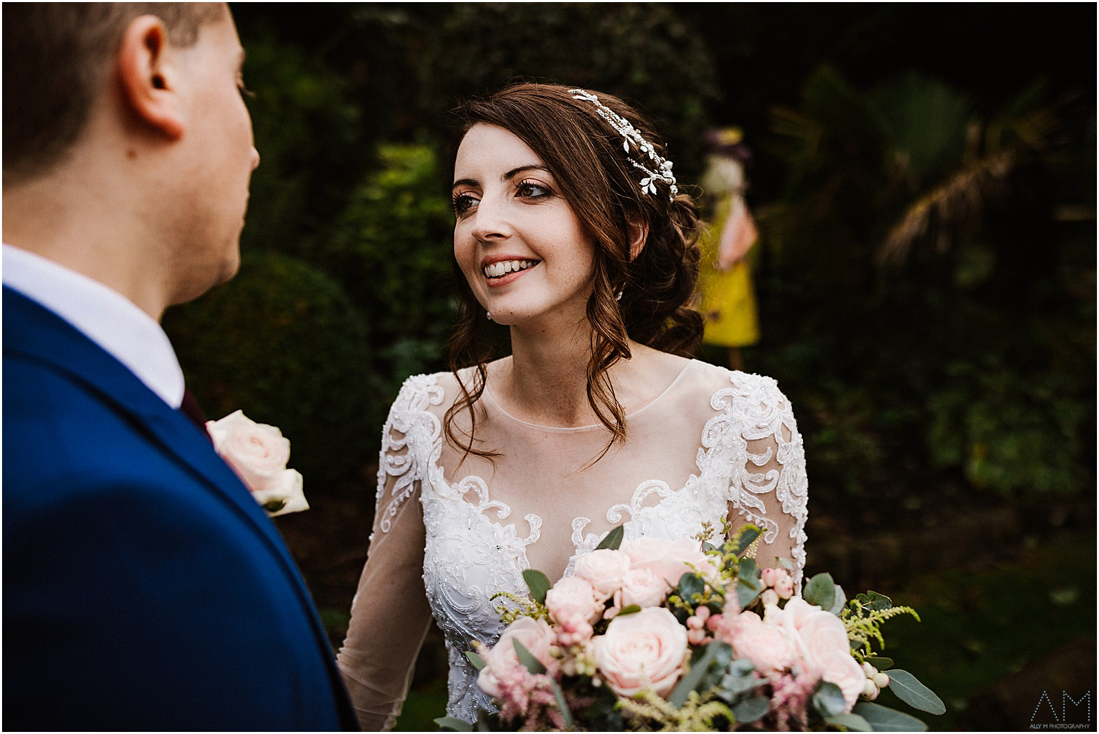 Bride looking at her new husband
