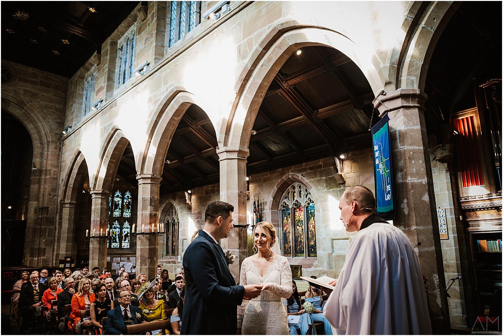 Church wedding in Wilmslow