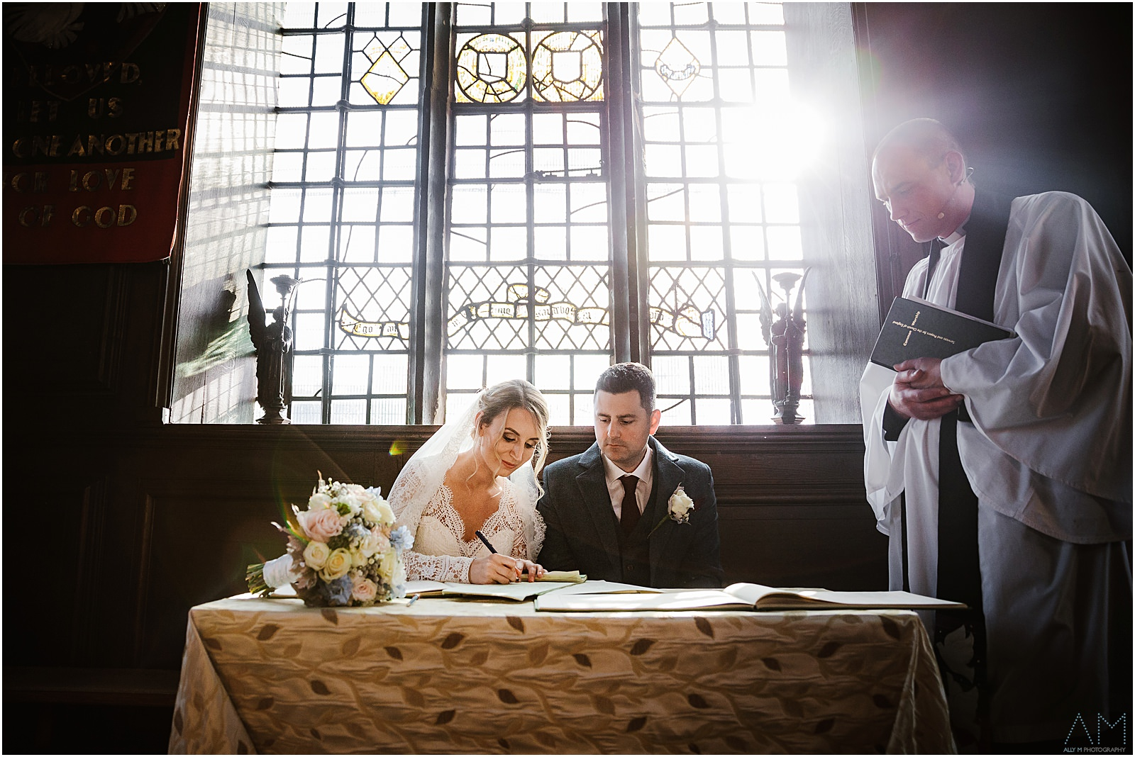 Signing of the wedding certificate in Manchester