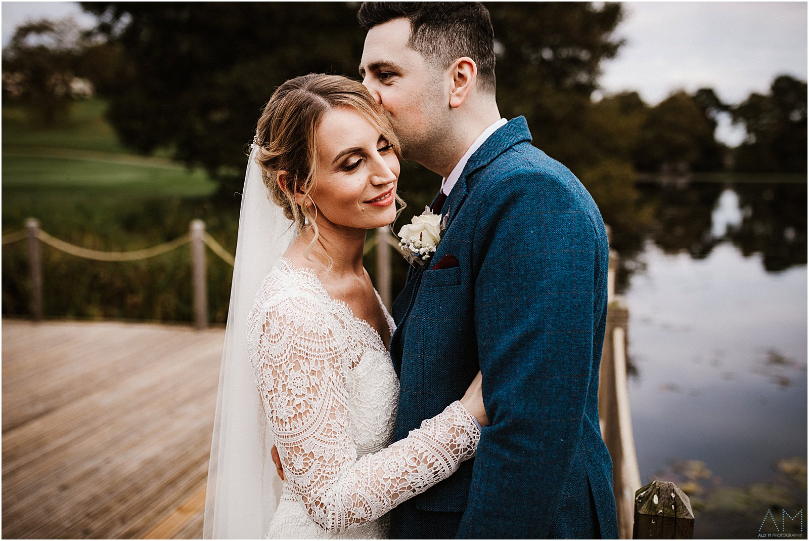 Delamere Manor bride and groom