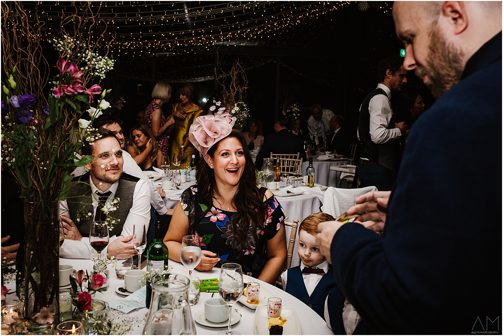 Magician entertaining the wedding guests