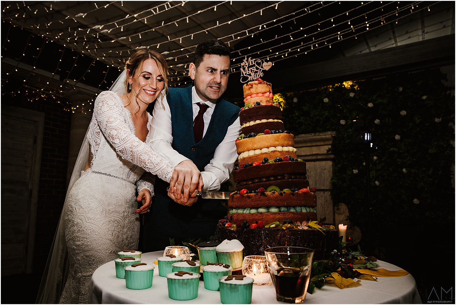 Cutting the cake at Delamere Manor