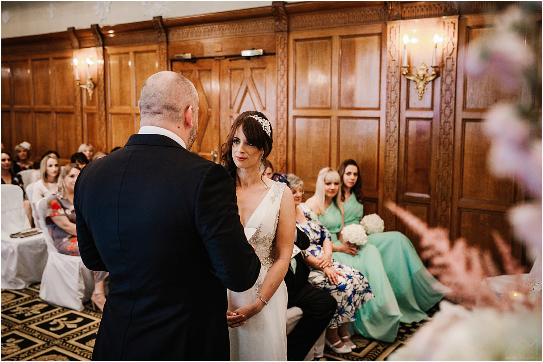 Bride looking at her man