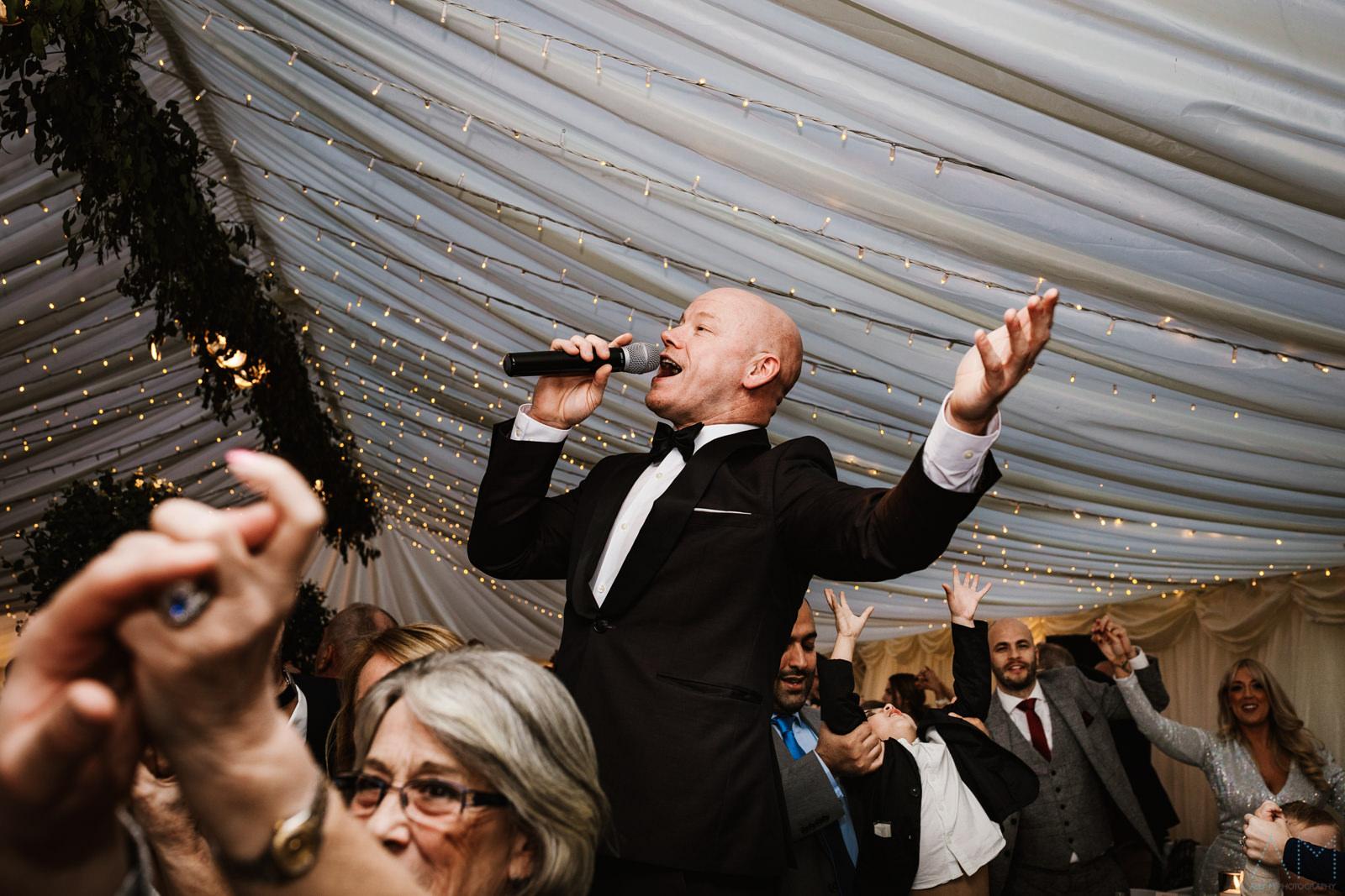 Wedding singer at the Inn at Whitewell