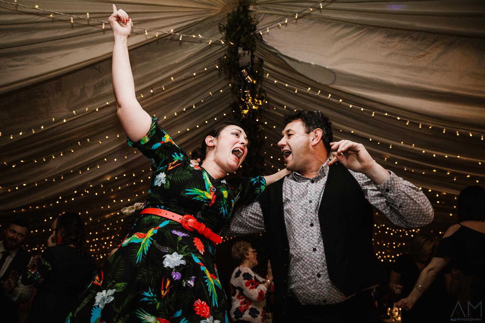 Gay and woman singing