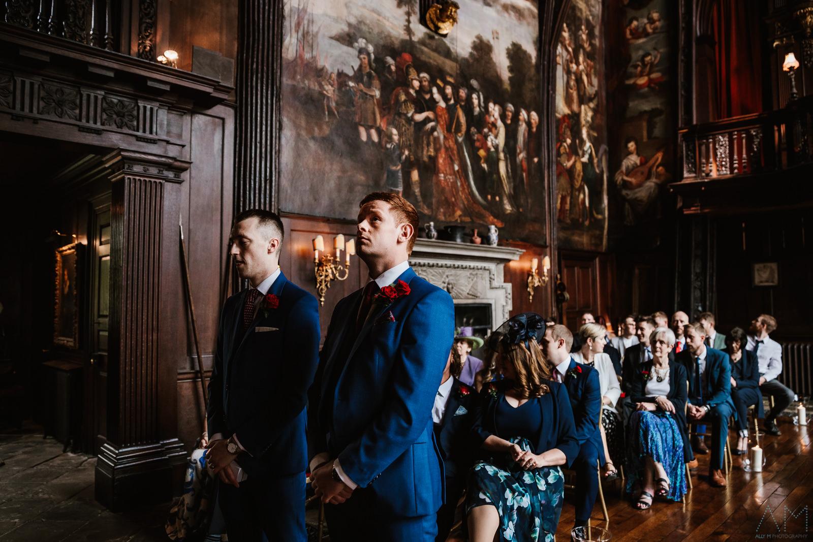 Nervous groom at Adlington Hall