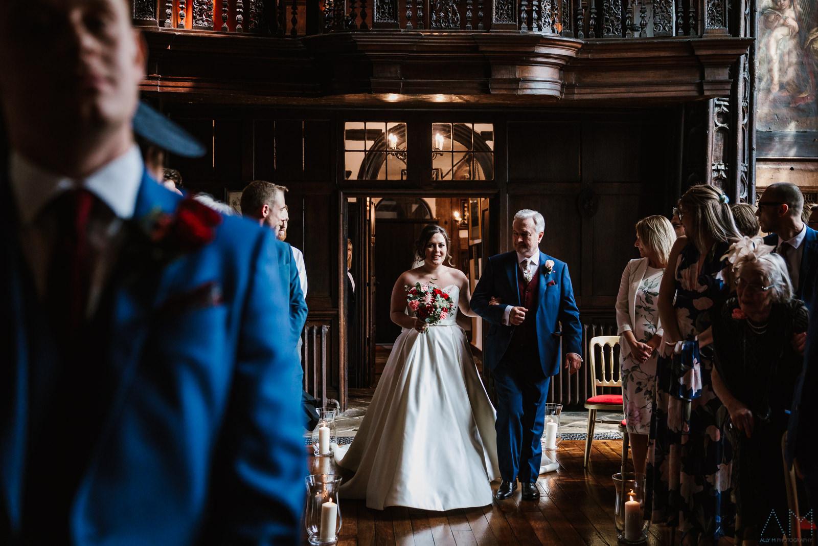 Bride entrance at Adlington Hall