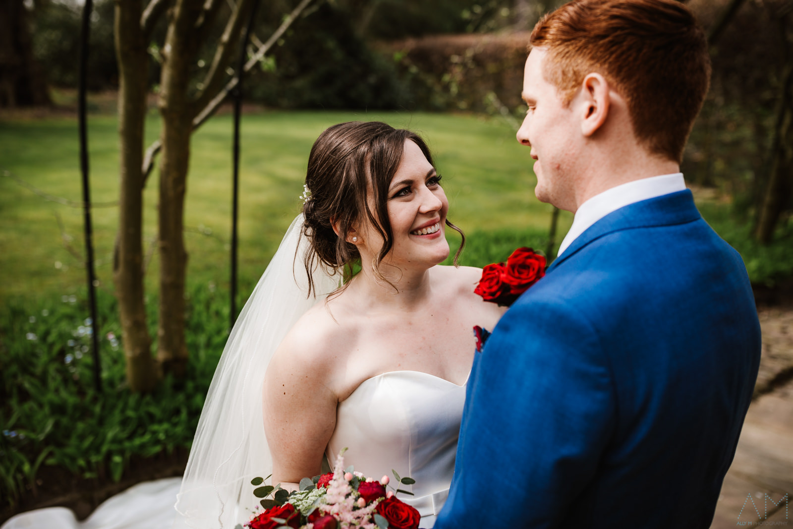 Bride and groom adlington hall
