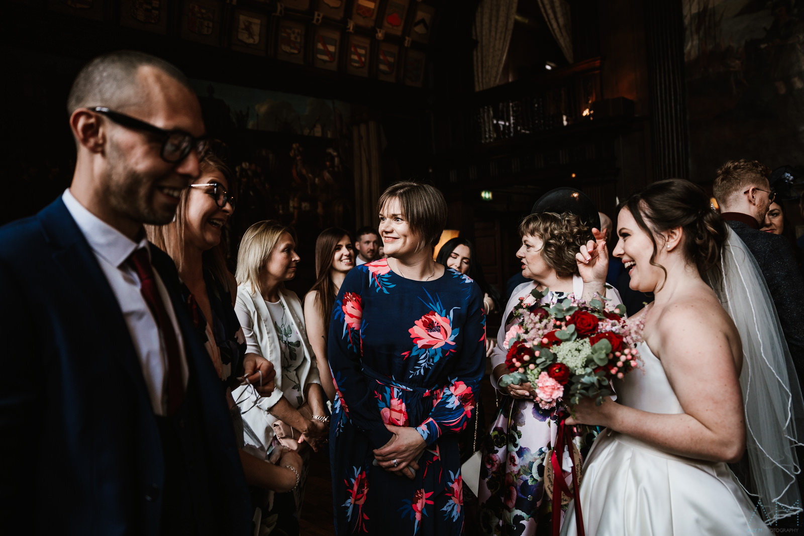 Wedding guests in the Great Hall
