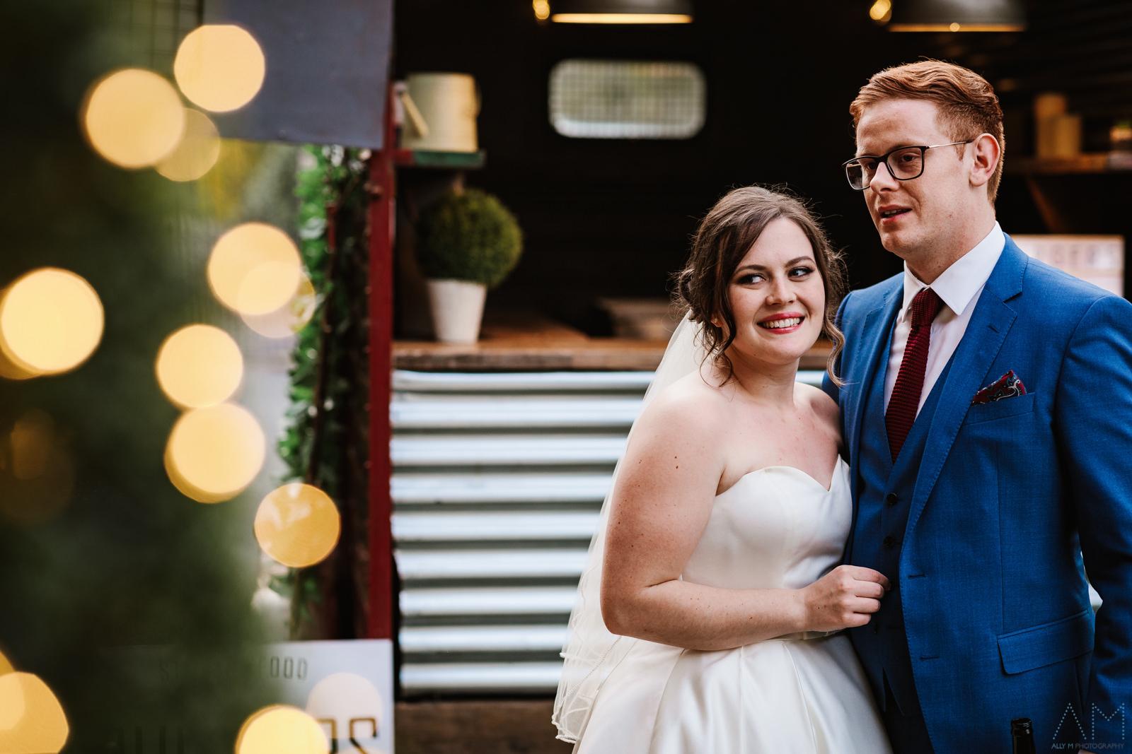 Bride and groom at Adlington Hall
