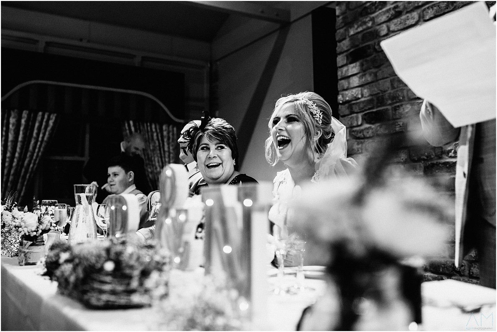 Brides mum during the speeches