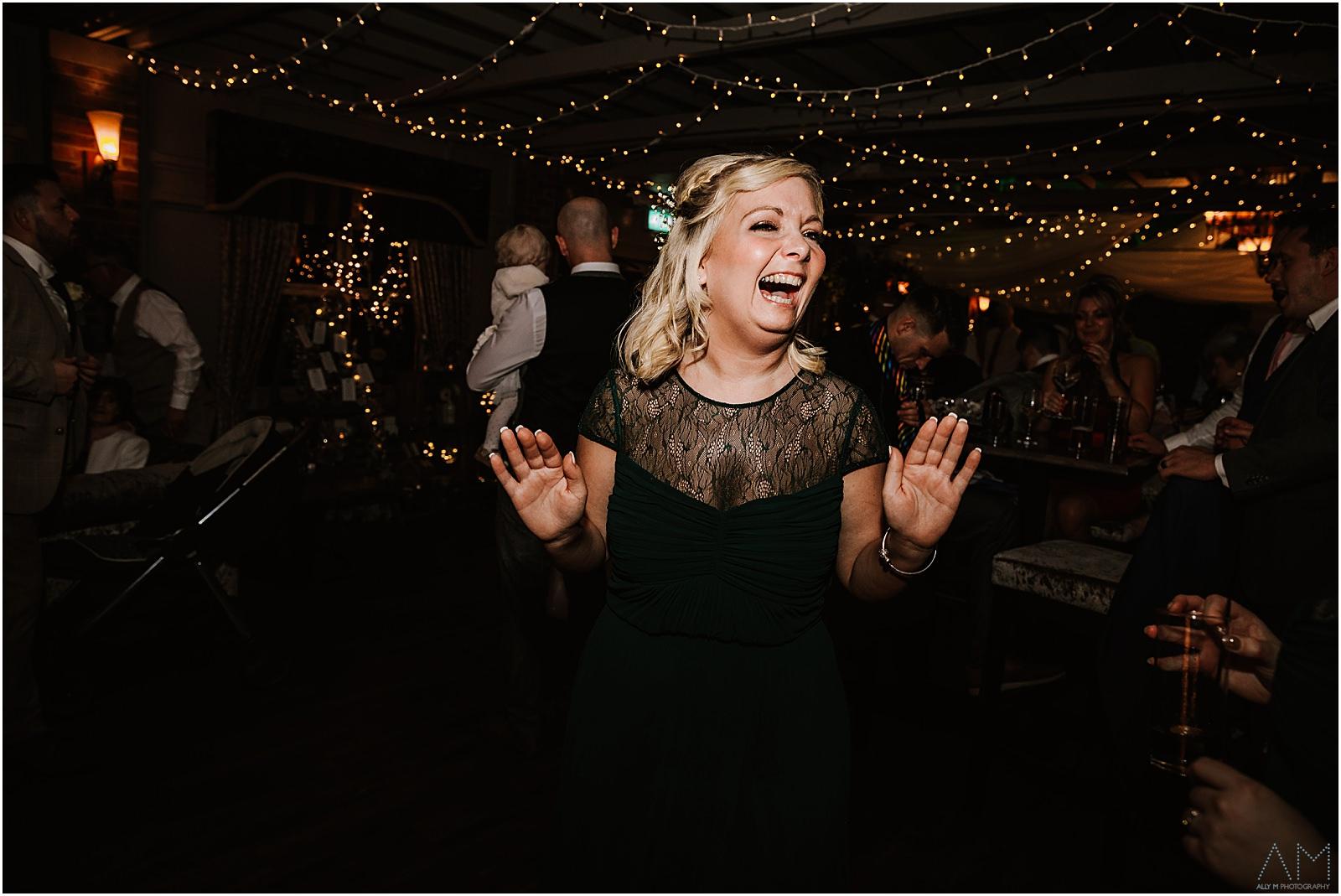 Bridesmaid on the dance floor